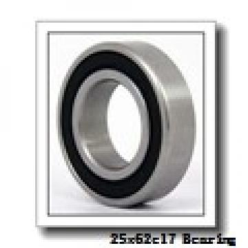 25 mm x 62 mm x 17 mm  NACHI 1305 self aligning ball bearings